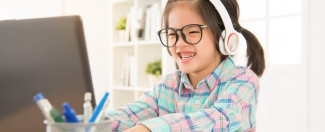 elementary-aged student remote learning