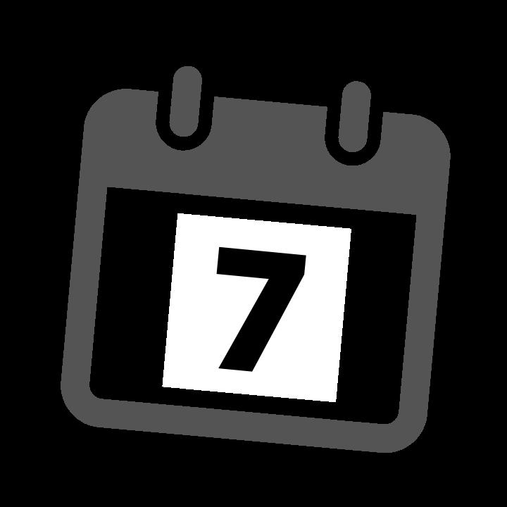 grey calendar date 7