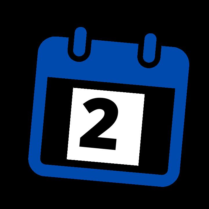 blue calendar date 2