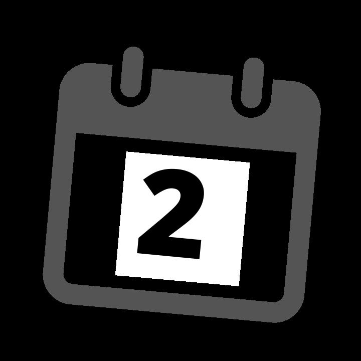 grey calendar date 2