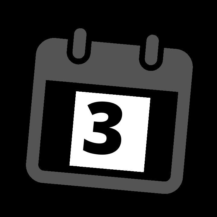 grey calendar date 3