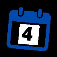 blue calendar date 4