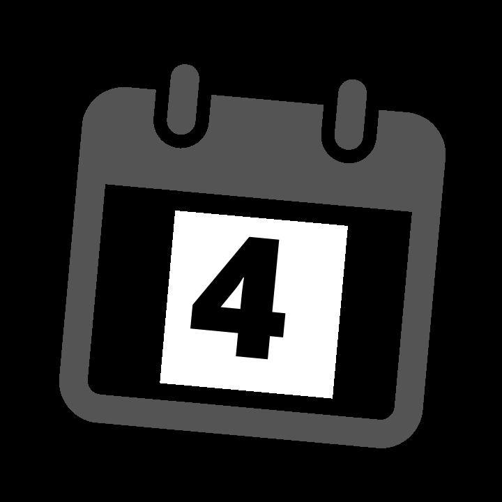 grey calendar date 4