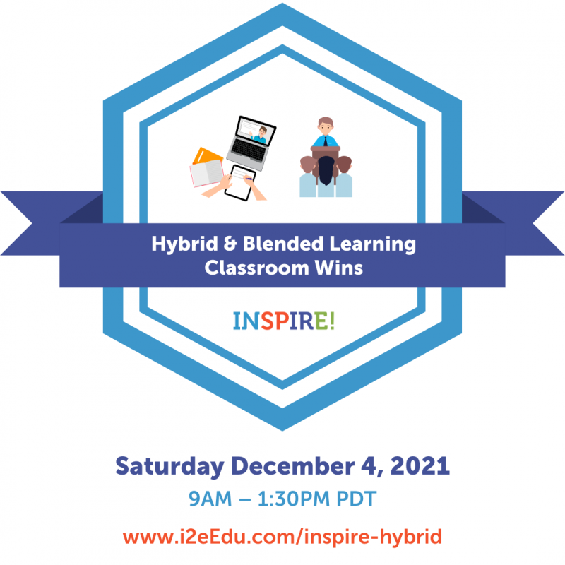 Advertisement graphic for Inspire hybrid learning event December 4th